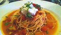 Guess Where I'm Eating This Pasta Pomodoro and Win $20 to Chinese Noodle Cafe