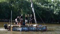Boat Made of Trash Sails into St. Louis