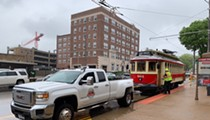 Loop Trolley Gives Up, Gets a Tow Back Home