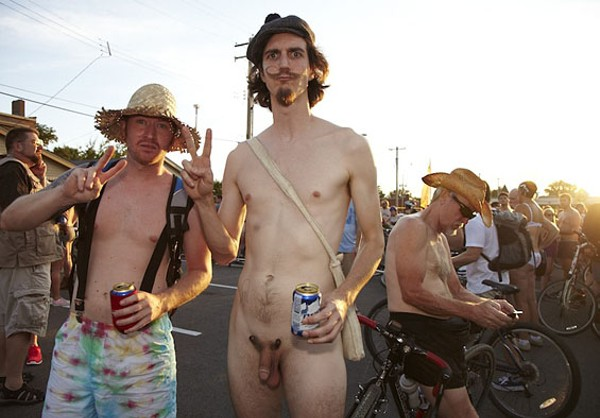 Naked bicycle festival