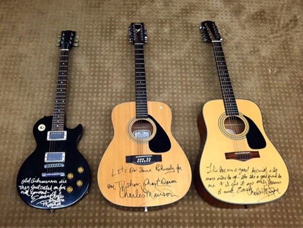 Charles Manson Autographed Guitars For Sale In Town Country