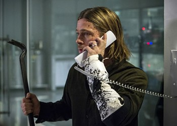 <I>World War Z</I>: In global chaos, cling to Brad Pitt's humanity