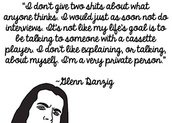 Danzig on Danzig: Why He Hates Interviews, the Press and You, In Illustrated Form