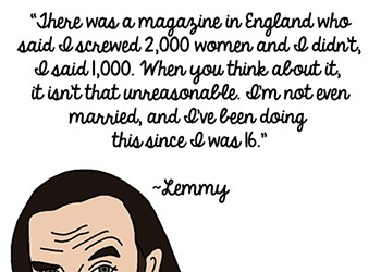 Lemmy's Rockstar Life, in Illustrated Form