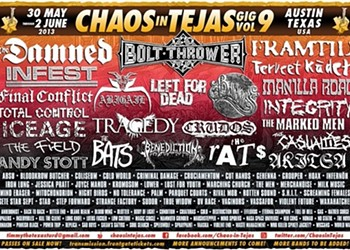 Chaos in Tejas 2013 Review: Infest, Los Crudos, Left For Dead, Framtid and More