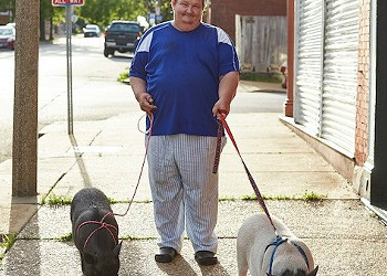 Mr. Wiggy and Pepper LaPew Are the Friendly Pigs of Benton Park West
