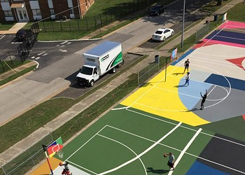 Kinloch Park's Basketball Courts Are Now a Work of Art