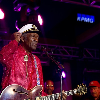 Chuck Berry and Nelly at Kiener Plaza