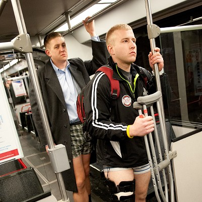 No Pants MetroLink Ride 2013