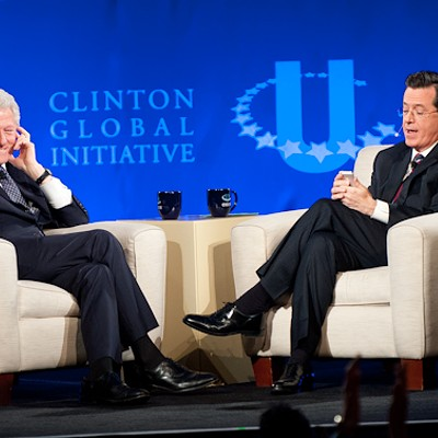 Stephen Colbert Interviews Bill Clinton