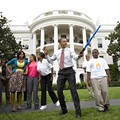 Jackie Joyner-Kersee in Soon-to-be-Legendary Obama Lightsaber Photo
