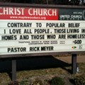God Loves Homeless People, Church Sign Confirms