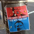 Photo: A Sticky Election Poll, Vote with Your Gum
