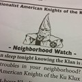 KKK Posts Fliers in Fenton After Complaints About Drugs in Jefferson County
