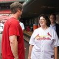 Cardinals: <i>The Office</i>'s Phyllis Smith, St. Louis Native, Visits Busch Stadium (PHOTOS)