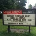 God Loves People of All Hues, Church Sign Confirms