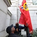 St. Louis Flag <strike>Flies</strike> Flaccidly Hangs Over D.C. City Hall Today