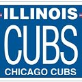 Cubs License Plates Go On Sale Today -- In Illinois Only, Alas