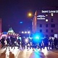 Shaw Protesters March, Peacefully Block I-44 Before Riot Cops, Burglaries Take Over