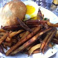 Guess Where I'm Eating this Burger and Fries and Win a Gift Certificate to the Pasta House Co. [Updated with Winner]!