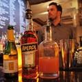Chris Kelling, Pi Pizzeria CWE Bartender, Mixes...an Aperol Spritz!