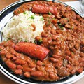 Try Red Beans and Rice at Riverbend Restaurant & Bar