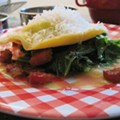 Chef's Choice Recipe: Chef John's Egg Ravioli with Lardons and Mustard Greens
