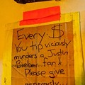 The Justin Bieber Fan Vicious Murder Fund: Donate At A Gwar Show Today!