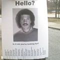 Lionel Richie Missing Person Poster = Internet Win