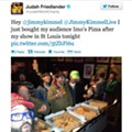 Here's a Photo of <i>30 Rock</i>'s Judah Friedlander Feeding Everyone at The Firebird Imo's Pizza