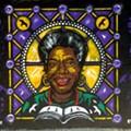 St. Louis 'EYEZ' Artist Creates Mural at Galleria Restaurant