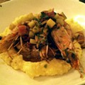 Guess Where I'm Eating These Shrimp and Grits and Win $20 from La Tejana (UPDATED)