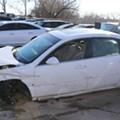 Car Thieves Accidentally Crash Stolen Sedan into Stolen SUV