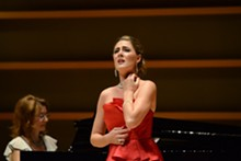 KRISTIN HOEBERMANN - Sydney Mancasola plays Violetta in Opera Theatre St. Louis' season-opening production of La traviata.
