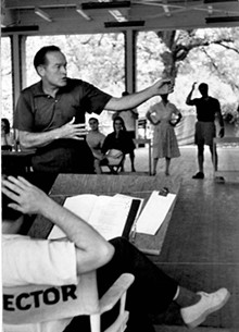 COURTESY OF THE MUNY - Bob Hope rehearses for his role in a 1958 production of Roberta at the Muny.
