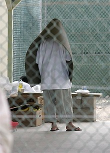 BARRY BLAND - A detainee inside Camp 4, the lowest-security camp for the best behaved detainees.