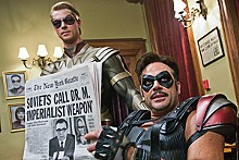 Comic-book heroes: Matthew Goode and Jeffrey Dean Morgan costar in Watchmen.
