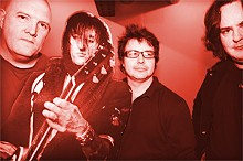 JENNIFER SILVERBERG - Pale Divine in 2008: (from left) Greg Miller, cardboard cutout Richard Fortus, Dan Angenend and Michael Schaerer