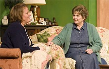 JOHN LAMB - Kim Furlow and Donna Weinsting in Stray Dog's 'night Mother.