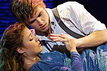 PAUL KOLNIK - Christy Altomare and Kyle Riabko embrace youth in Spring Awakening.