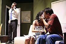 JILL RITTER - Say Grace: Jason Cannon as Steve, Sarah Cannon as Sara and Chad Morris as Sam.