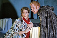 KEN HOWARD - Ellie Dehn and Roger Honeywell star as the doomed lovers in Troilus and Cressida.
