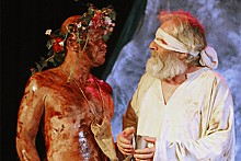 JILL RITTER - The gang's all Lear: Peter Mayer as King Lear and Kevin Beyer as Gloucester.
