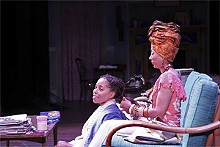 STEWART GOLDSTEIN - Cherita Armstron and Monica Parks in the Black Rep's Harlem Duet.