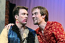 JILL RITTER - Cody Proctor and Mark Kelley in hit all the right punch lines in Comedy of Errors.