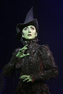 JOAN MARCUS - Carmen Cusack as Elphaba in Wicked.