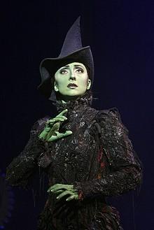 JOAN MARCUS - Carmen Cusack as Elphaba in Wicked.