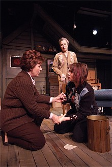 KRISTI FOSTER - Kat Singleton, Kari Ely and Emily Piro go back to the future in Kindertransport.