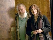 Tough love: Philip Seymour Hoffman and Laura Linney care for Pops in The Savages.