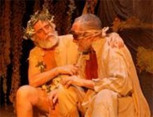 TERESA  DOGGETT - Acting royalty: Richard Lewis (left) as Lear and Steve Callahan (right) as Gloucester